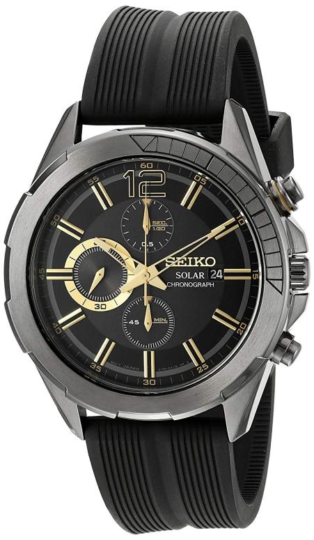 セイコー SEIKO 男性用 腕時計 メンズ ウォッチ クロノグラフ ブラック SSC385 送料無料 【並行輸入品】