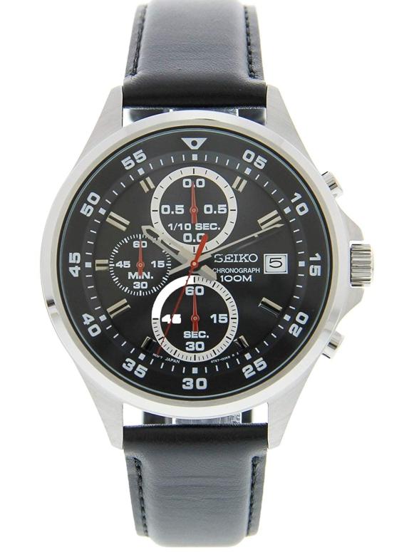 セイコー SEIKO 男性用 腕時計 メンズ ウォッチ クロノグラフ ブラック SKS635 送料無料 【並行輸入品】