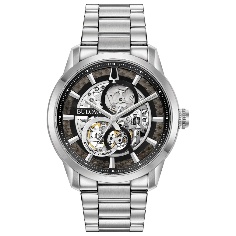 ブローバ Bulova 男性用 腕時計 メンズ ウォッチ ブラック シルバー 96A208 送料無料 【並行輸入品】