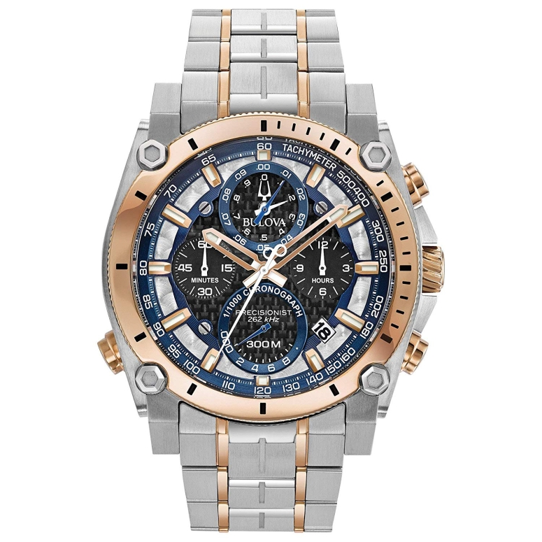 ブローバ Bulova 男性用 腕時計 メンズ ウォッチ ブラック シルバー ローズゴールド ブルー グレー 98B317 送料無料 【並行輸入品】