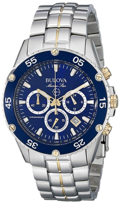 ブローバ Bulova 男性用 腕時計 メンズ ウォッチ クロノグラフ ブルー 98H37 送料無料 【並行輸入品】