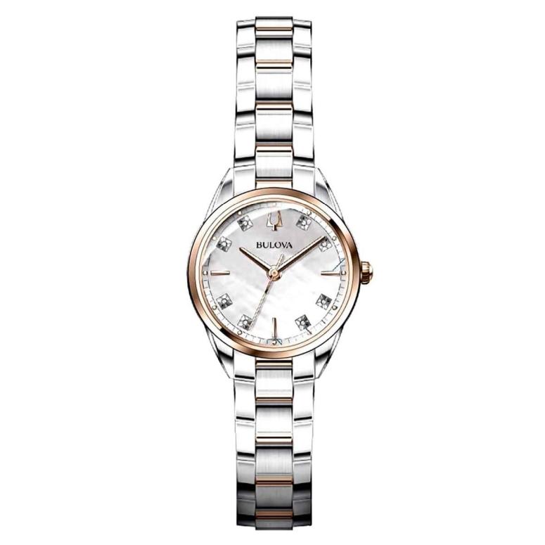 ブローバ Bulova 女性用 腕時計 レディース ウォッチ パール 98P183 送料無料 【並行輸入品】