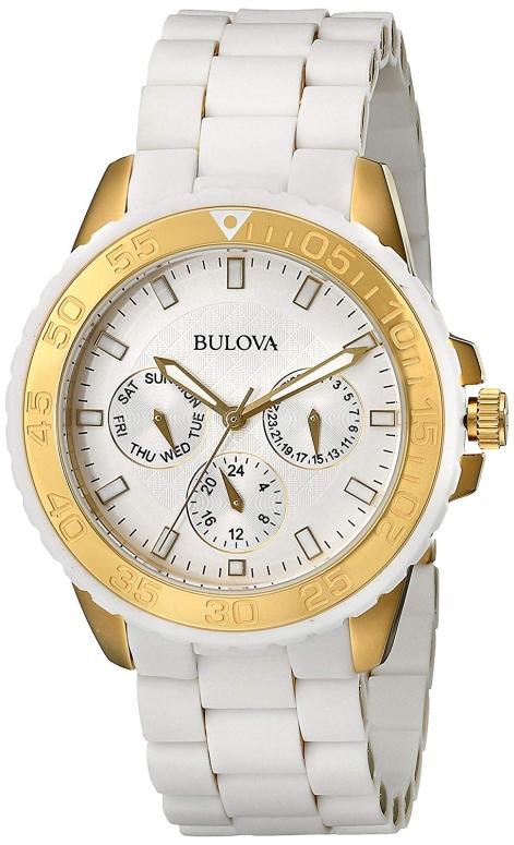 ブローバ Bulova 女性用 腕時計 レディース ウォッチ ホワイト 98N102 送料無料 【並行輸入品】