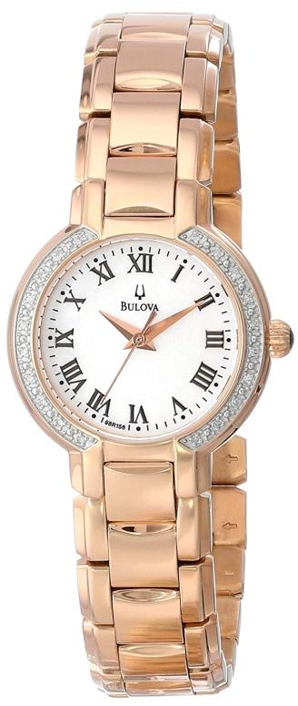 ブローバ Bulova 女性用 腕時計 レディース ウォッチ パール 98R156 送料無料 【並行輸入品】