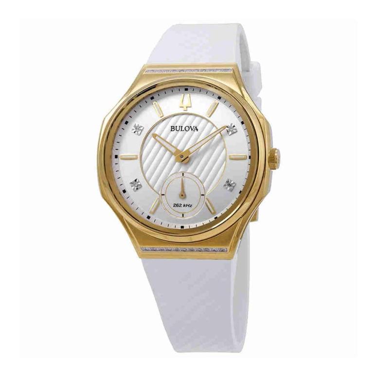ブローバ Bulova 女性用 腕時計 レディース ウォッチ シルバー ホワイト 98R237 送料無料 【並行輸入品】