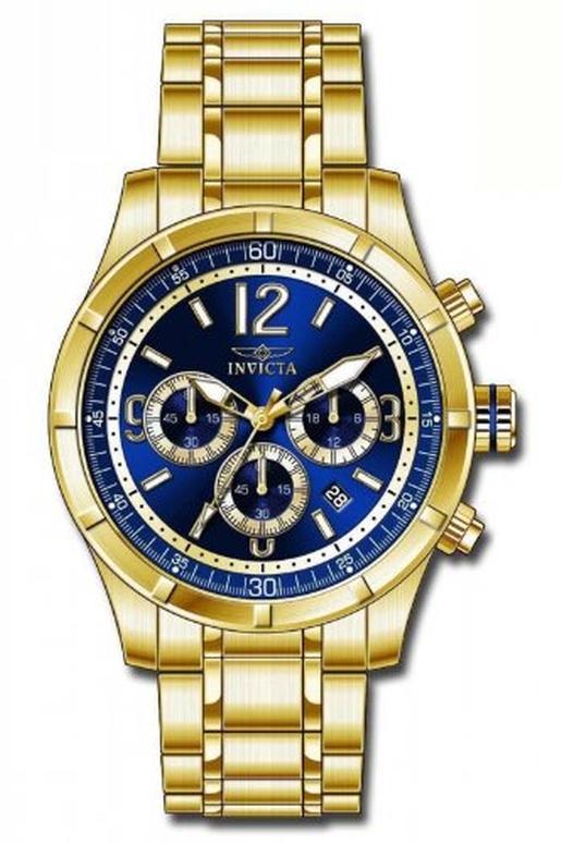 インビクタ Invicta インヴィクタ 男性用 腕時計 メンズ ウォッチ クロノグラフ ブルー 11375 送料無料 【並行輸入品】