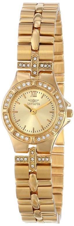 インビクタ Invicta インヴィクタ 女性用 腕時計 レディース ウォッチ ゴールド 0134 送料無料 【並行輸入品】