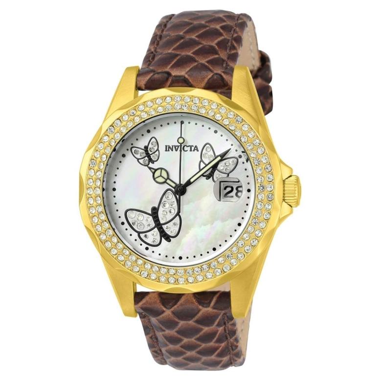 インビクタ Invicta インヴィクタ 女性用 腕時計 レディース ウォッチ ホワイト パール 23645 送料無料 【並行輸入品】