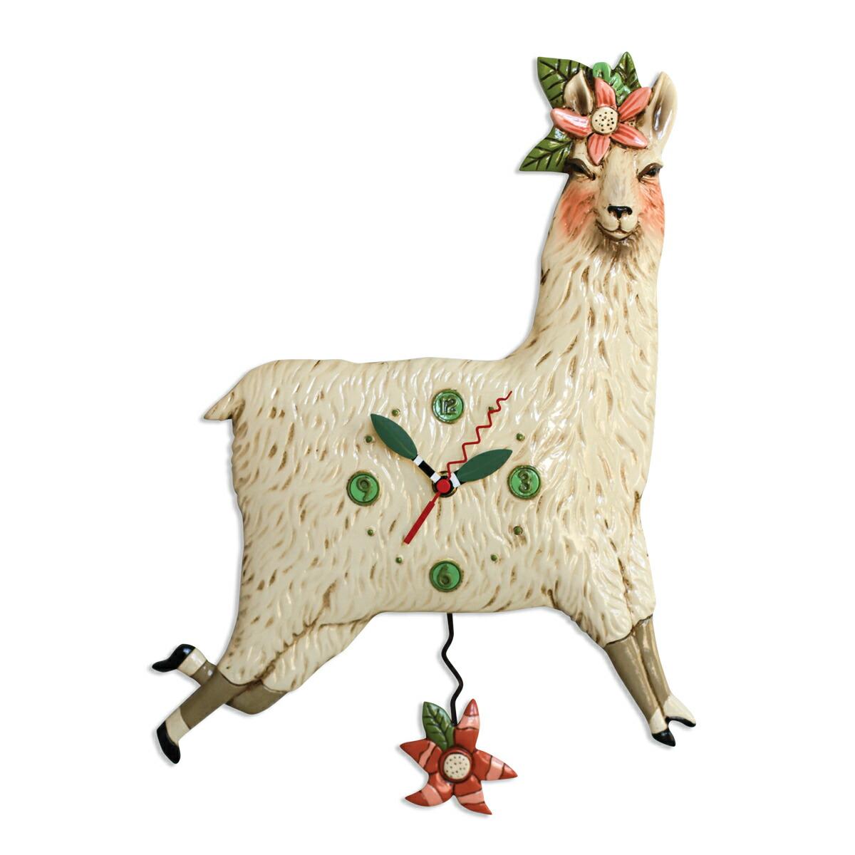 ラマ アレン デザイン 振り子時計 Allen Designs Llama Love Pendulum Clock 掛け時計 P1920 ミシェルアレン ミシェル・アレン アレン・デザイン ALLEN DESIGNS 時計 送料無料 【並行輸入品】