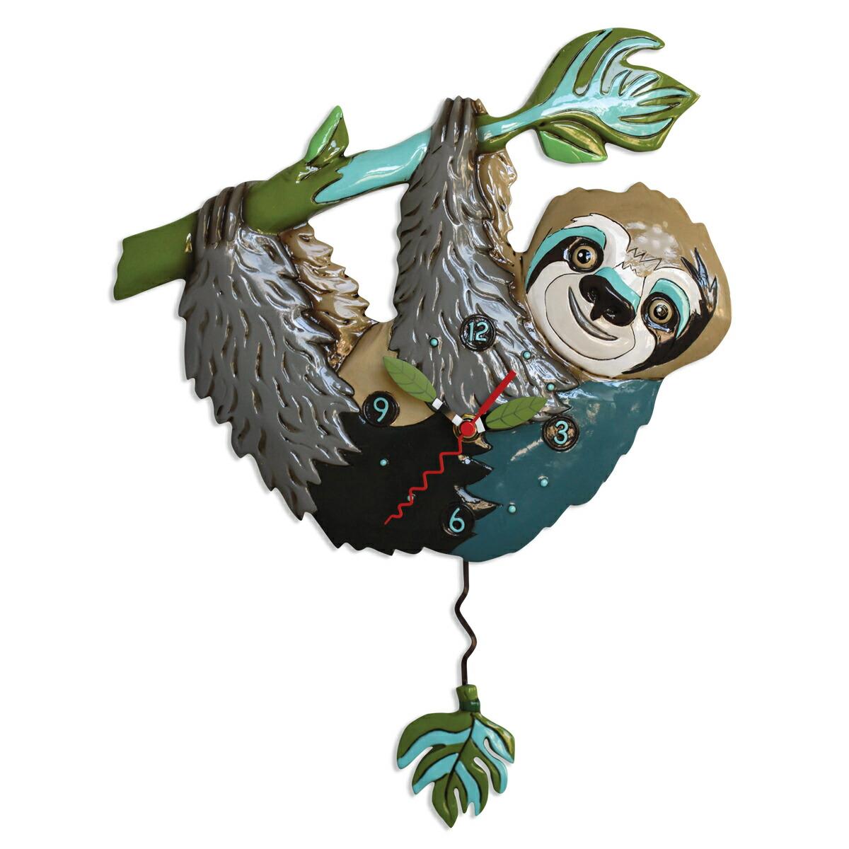 なまけもの アレン デザイン 振り子時計 Allen Designs Slow Poke Sloth Pendulum Clock 掛け時計 P1926 ミシェルアレン ミシェル・アレン アレン・デザイン ALLEN DESIGNS 時計 送料無料 【並行輸入品】