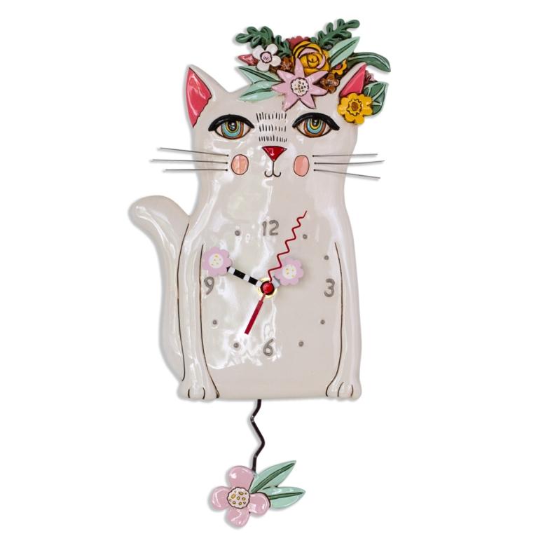 プリティ キティ 猫 ネコ アレン デザイン 振り子時計 Allen Designs Pretty Kitty Pendulum Clock 掛け時計 P1993 ミシェルアレン ミシェル・アレン アレン・デザイン ALLEN DESIGNS 時計 送料無料 【並行輸入品】