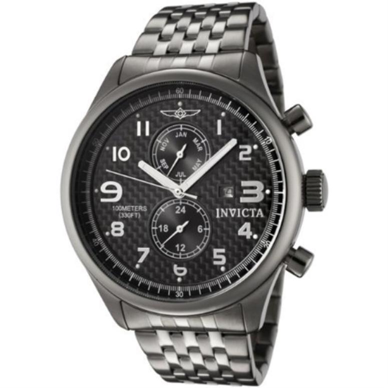 インビクタ Invicta インヴィクタ 男性用 腕時計 メンズ ウォッチ ブラック 0368_GUN 送料無料 【並行輸入品】
