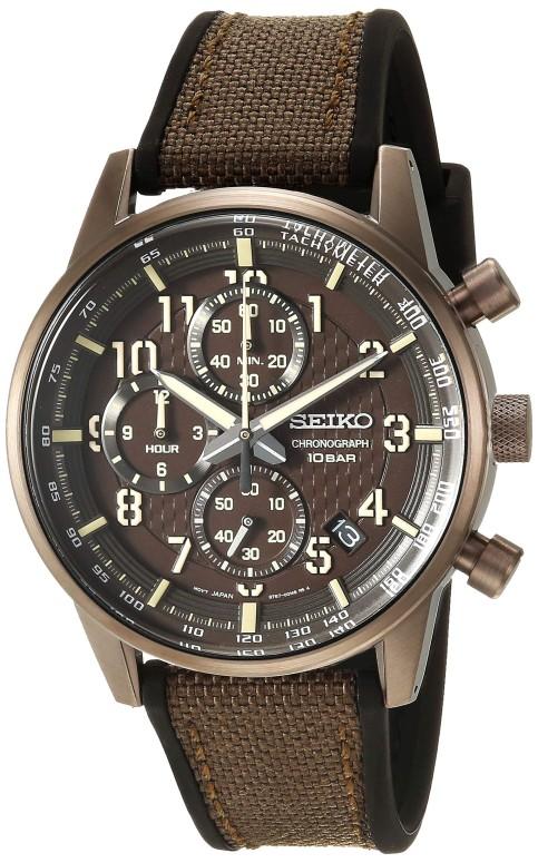 セイコー SEIKO 男性用 腕時計 メンズ ウォッチ クロノグラフ ブラウン SSB371 送料無料 【並行輸入品】