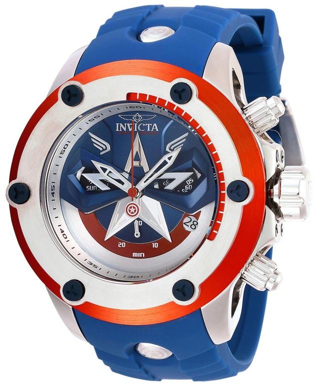 インビクタ Invicta インヴィクタ 男性用 腕時計 メンズ ウォッチ ブルー シルバー レッド 28420 送料無料 【並行輸入品】