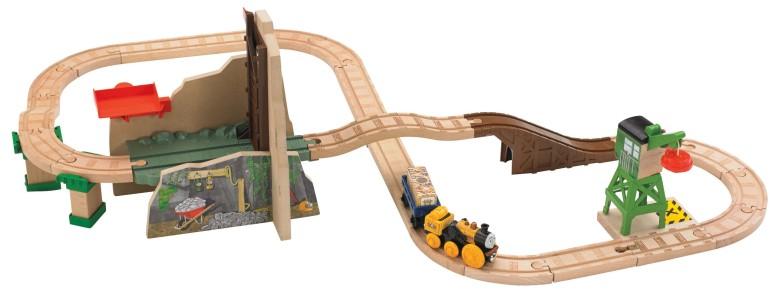 トーマス 木製レール きかんしゃ 鉱山プレイセットの宝物 Fisher-Price Thomas & Friends Wooden Railway, Treasure at the Mine Playset 送料無料 【並行輸入品】