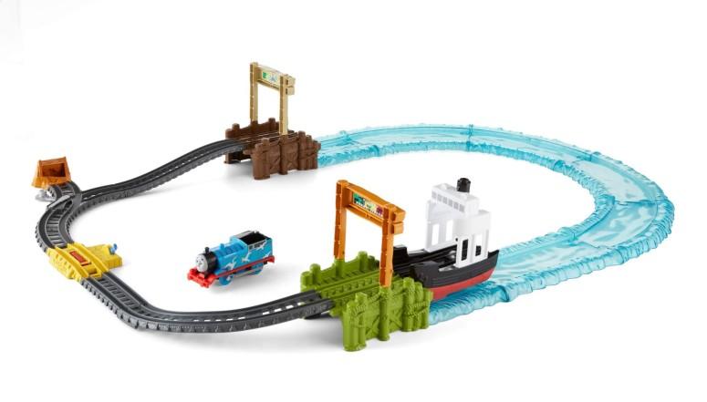 トーマス 木製レール きかんしゃ ボート シーセット テイクアンドプレイ Fisher-Price Thomas & Friends TrackMaster, Boat & Sea Set 送料無料 【並行輸入品】