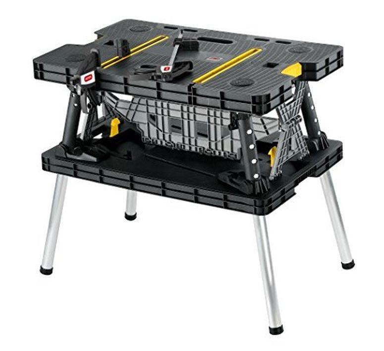 Folding 折りたたみ式 作業台 ワークベンチ クランプ付き 折り畳み 送料無料 【並行輸入品】