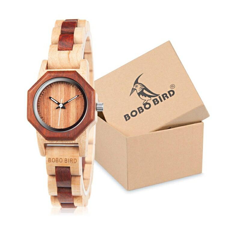ボボバード BOBO BIRD ウッドウォッチ 木製腕時計 女性用 腕時計 レディース ウォッチ ブラウン B-91401 送料無料 【並行輸入品】