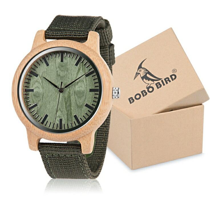 ボボバード BOBO BIRD ウッドウォッチ 木製腕時計 男女兼用 腕時計 ユニセックス ウォッチ ベージュ B-45 送料無料 【並行輸入品】