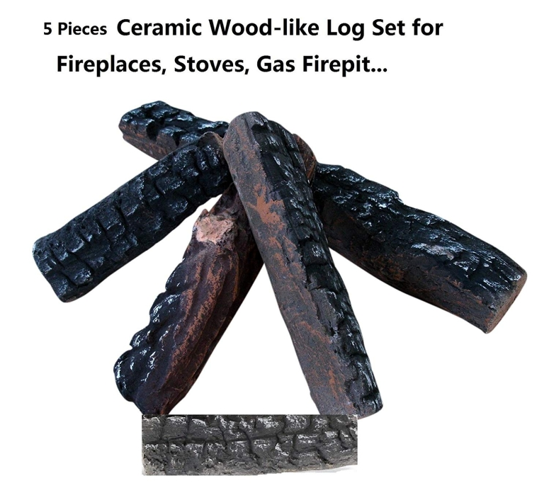 セラミックログ セット 暖炉用 5本セット エタノール暖炉用 5 Small Piece Set of Ceramic Wood Logs. All Types of Indoor, Gas Inserts, Ventless & Vent Free, Electric, or Outdoor Fireplaces & Fire Pits. Realistic Clean Burning Accessorie 送料無料 【並行輸入品】