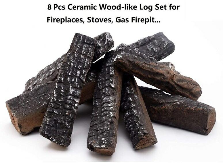 セラミックログ セット 暖炉用 Hmleaf 8 Small Pieces Set Wood-like Ceramic Fireplace Logs for Gas Ethanol,Fireplaces, Stoves, FirepitsHmleaf 8 Small Pieces Set Wood-like Ceramic Fireplace Logs for Gas Ethanol,Fireplaces, Stoves, Fire 送料無料 【並行輸入品】