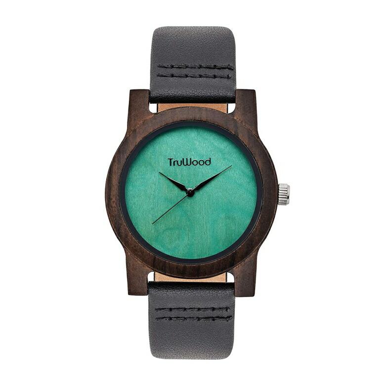 トゥルーウッド truwood ウッドウォッチ 木製腕時計 女性用 腕時計 レディース ウォッチ グリーン 5060412384001 送料無料 【並行輸入品】