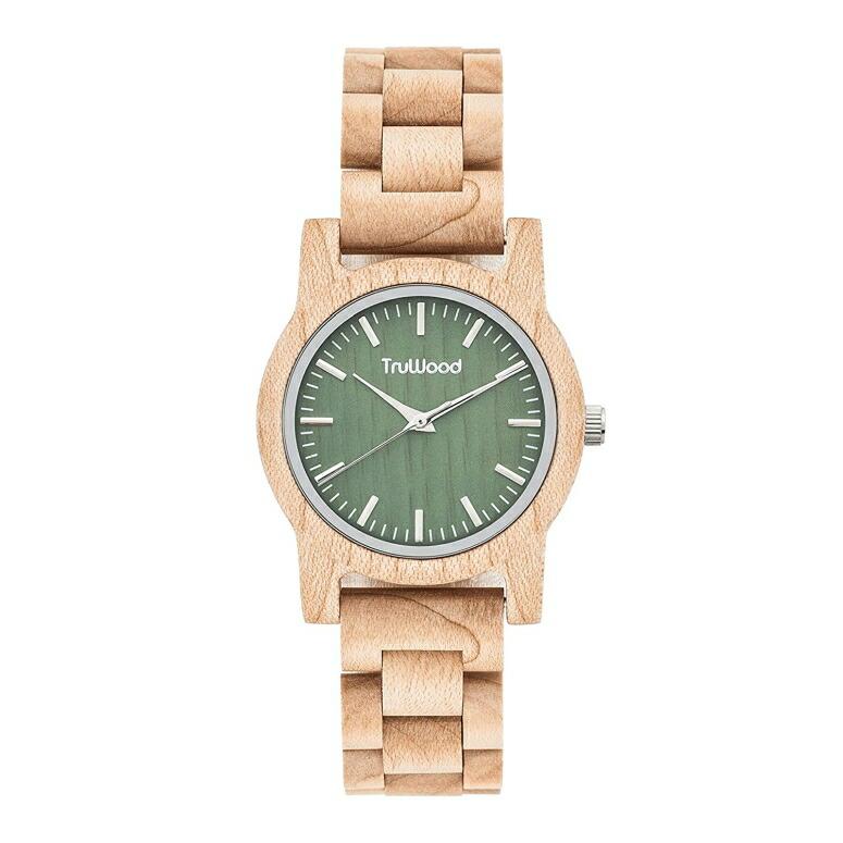 トゥルーウッド truwood ウッドウォッチ 木製腕時計 女性用 腕時計 レディース ウォッチ グリーン 5060412387002 送料無料 【並行輸入品】