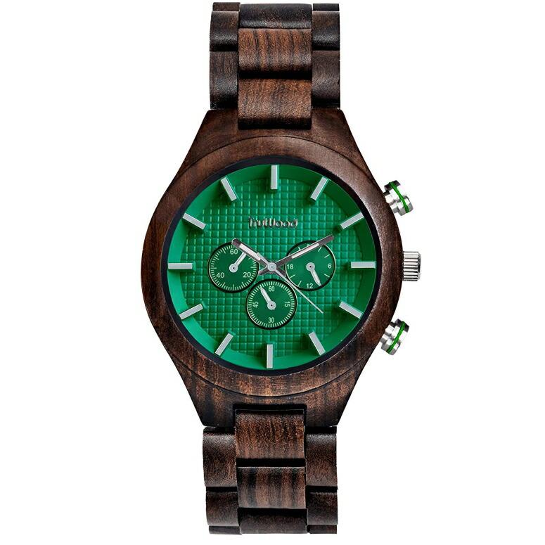 トゥルーウッド truwood ウッドウォッチ 木製腕時計 男性用 腕時計 メンズ ウォッチ グリーン 5060412383004 送料無料 【並行輸入品】
