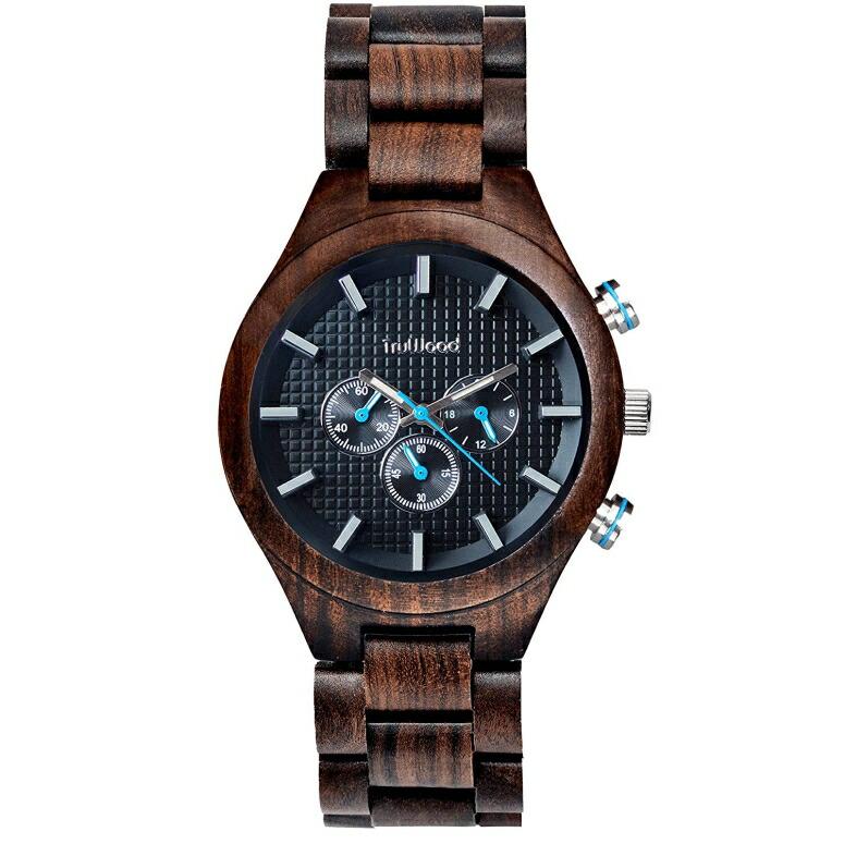 トゥルーウッド truwood ウッドウォッチ 木製腕時計 男性用 腕時計 メンズ ウォッチ ブラック 5060412382007 送料無料 【並行輸入品】