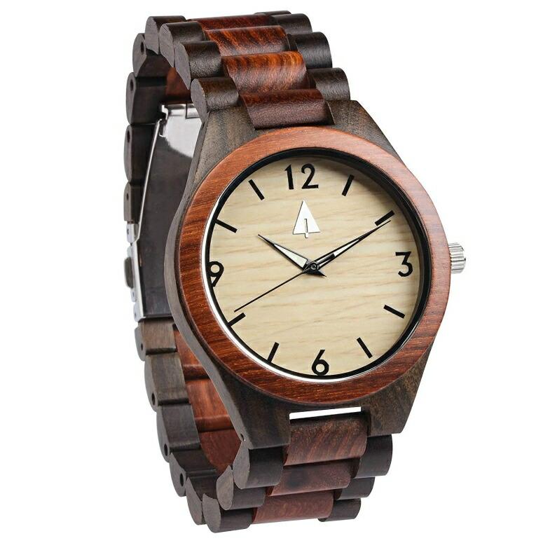 ツリーハット treehut ウッドウォッチ 木製腕時計 男性用 腕時計 メンズ ウォッチ ブラック HUT-3204 送料無料 【並行輸入品】