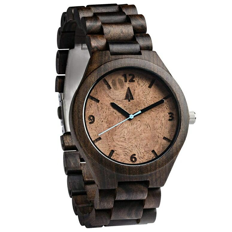 ツリーハット treehut ウッドウォッチ 木製腕時計 男性用 腕時計 メンズ ウォッチ ブラック HUT-22-3397 送料無料 【並行輸入品】