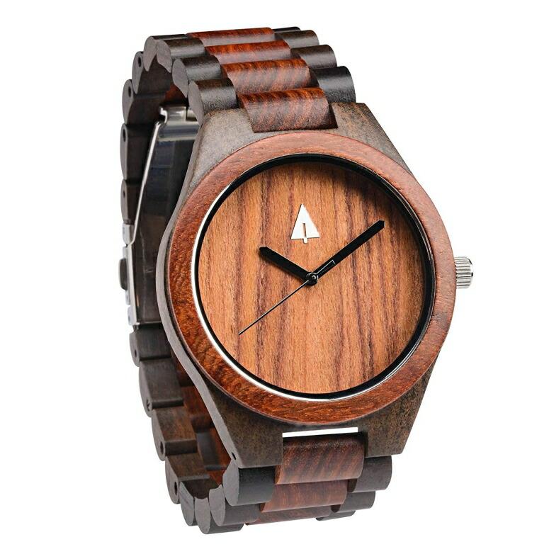 ツリーハット treehut ウッドウォッチ 木製腕時計 男性用 腕時計 メンズ ウォッチ ブラック HUT-3227 送料無料 【並行輸入品】