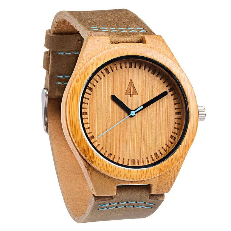 ツリーハット treehut ウッドウォッチ 木製腕時計 男性用 腕時計 メンズ ウォッチ ブラウン HUT22-007Blue/Brown 送料無料 【並行輸入品】