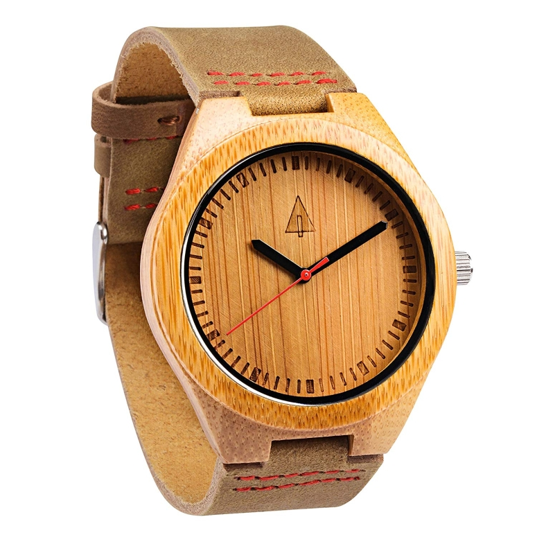 ツリーハット treehut ウッドウォッチ 木製腕時計 男性用 腕時計 メンズ ウォッチ ブラウン HUT11-007red/brown 送料無料 【並行輸入品】