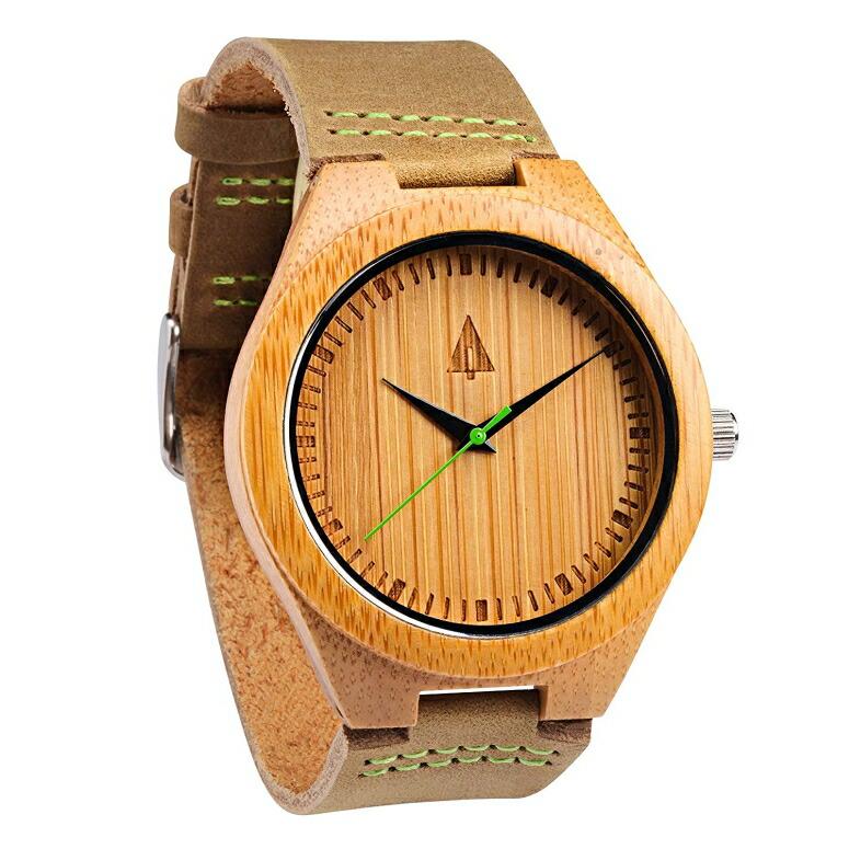 ツリーハット treehut ウッドウォッチ 木製腕時計 男性用 腕時計 メンズ ウォッチ ブラウン HUT44-009Green/Brown 送料無料 【並行輸入品】