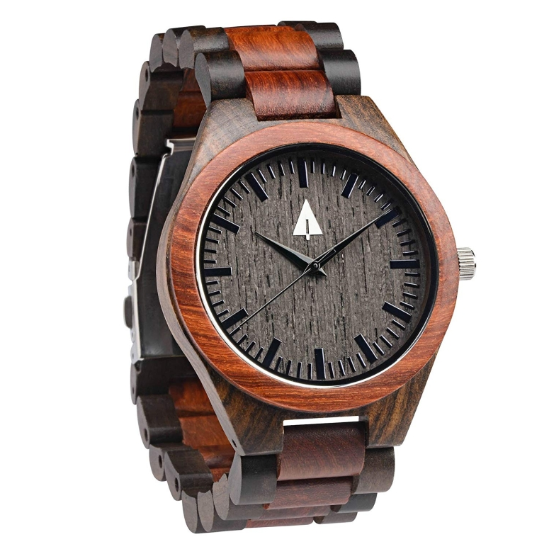 ツリーハット treehut ウッドウォッチ 木製腕時計 男性用 腕時計 メンズ ウォッチ ブラック HUT-3231 送料無料 【並行輸入品】