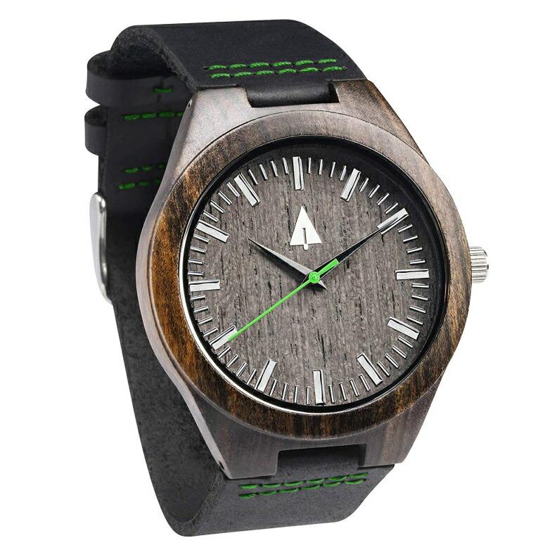 ツリーハット treehut ウッドウォッチ 木製腕時計 男性用 腕時計 メンズ ウォッチ ブラック HUT44-031 送料無料 【並行輸入品】