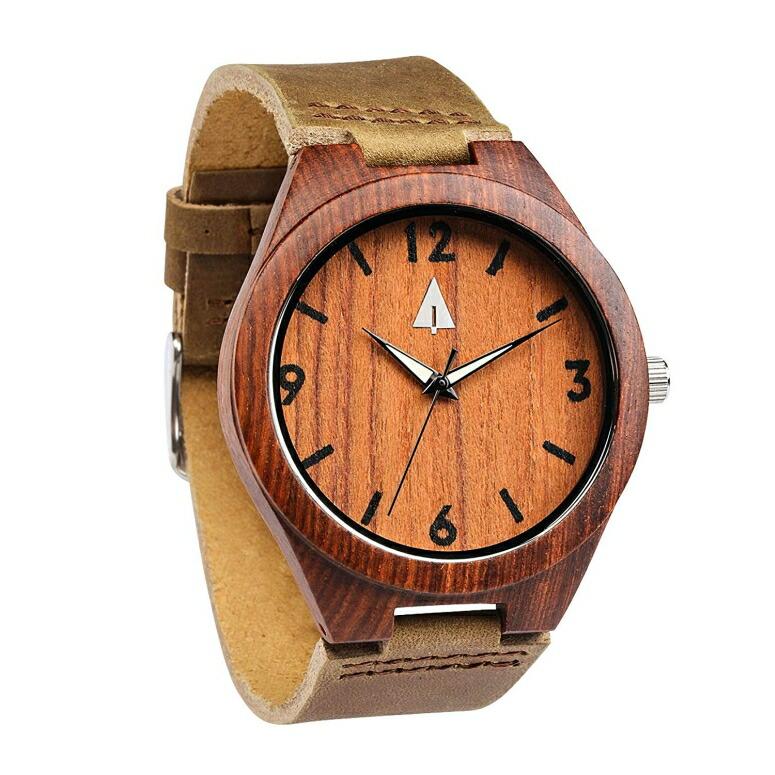 ツリーハット treehut ウッドウォッチ 木製腕時計 男性用 腕時計 メンズ ウォッチ レッド HUT024 送料無料 【並行輸入品】