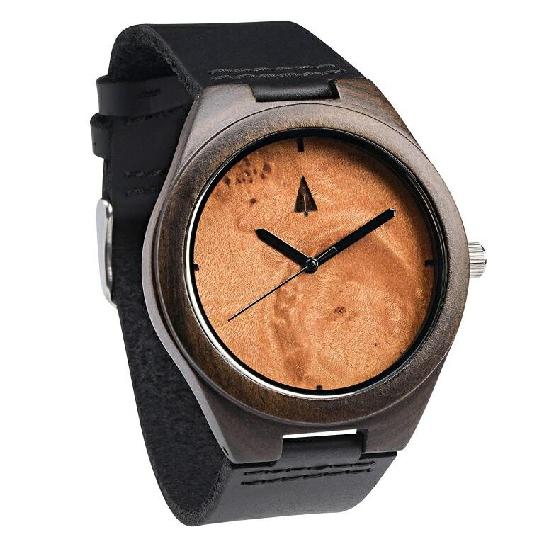 ツリーハット treehut ウッドウォッチ 木製腕時計 男性用 腕時計 メンズ ウォッチ ブラック HUT-0389Black/Black 送料無料 【並行輸入品】