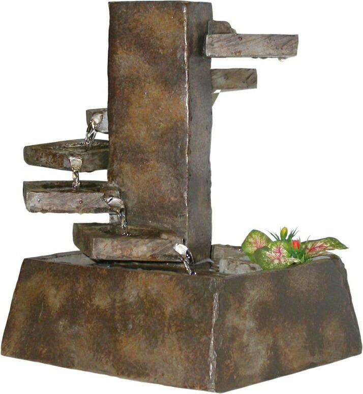卓上 噴水 滝のオブジェ テーブルトップファウンテン インテリア噴水 Alpine TT8000 Tiered Stone Eternity Tabletop Fountain 卓上噴水 インテリア 室内 ファウンテン ミニ噴水 滝 卓上ファウンテン 送料無料 【並行輸入品】