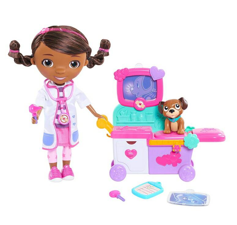 ドックのおもちゃびょういん トイホスピタル ドックはおもちゃドクター Just Play Doc McStuffins Magic Talking Doc & Care Cart 送料無料 【並行輸入品】