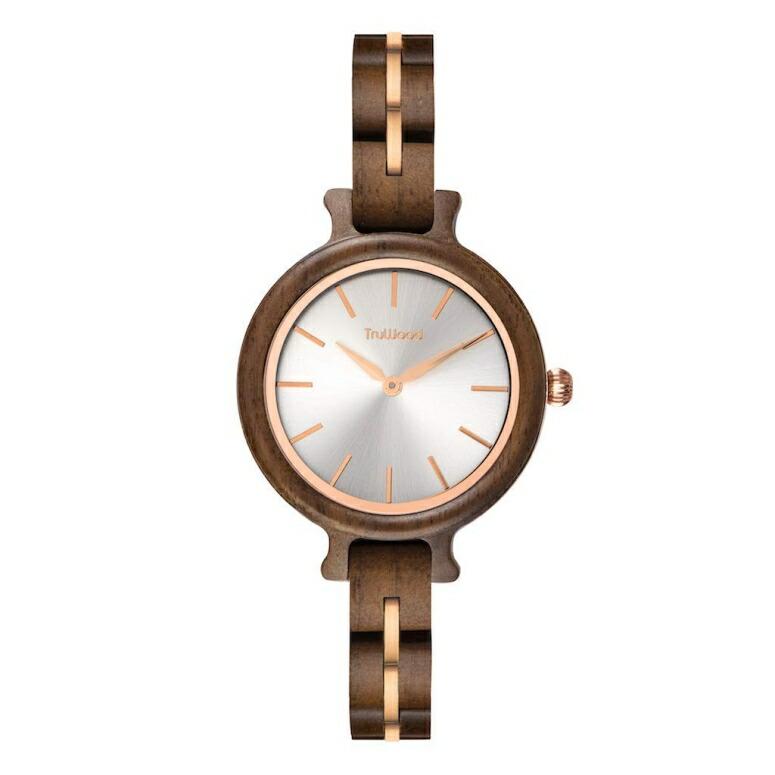 トゥルーウッド truwood ウッドウォッチ 木製腕時計 女性用 腕時計 レディース ウォッチ シルバー 5060410000000 送料無料 【並行輸入品】
