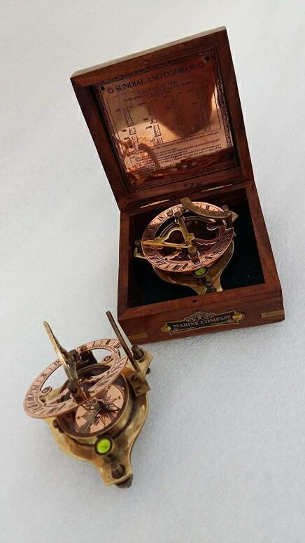Us Handicrafts Vintage Marine West London Antique 2 5 Brass Sundial