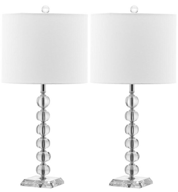 おしゃれなデザイン テーブルランプ Safavieh Lighting Collection Victoria Crystal Ball 24-inch Table Lamp (Set of 2) 送料無料 【並行輸入品】