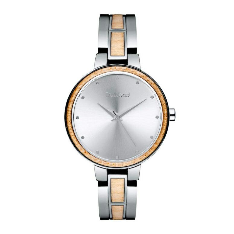 トゥルーウッド truwood ウッドウォッチ 木製腕時計 女性用 腕時計 レディース ウォッチ シルバー 3060412401076 送料無料 【並行輸入品】