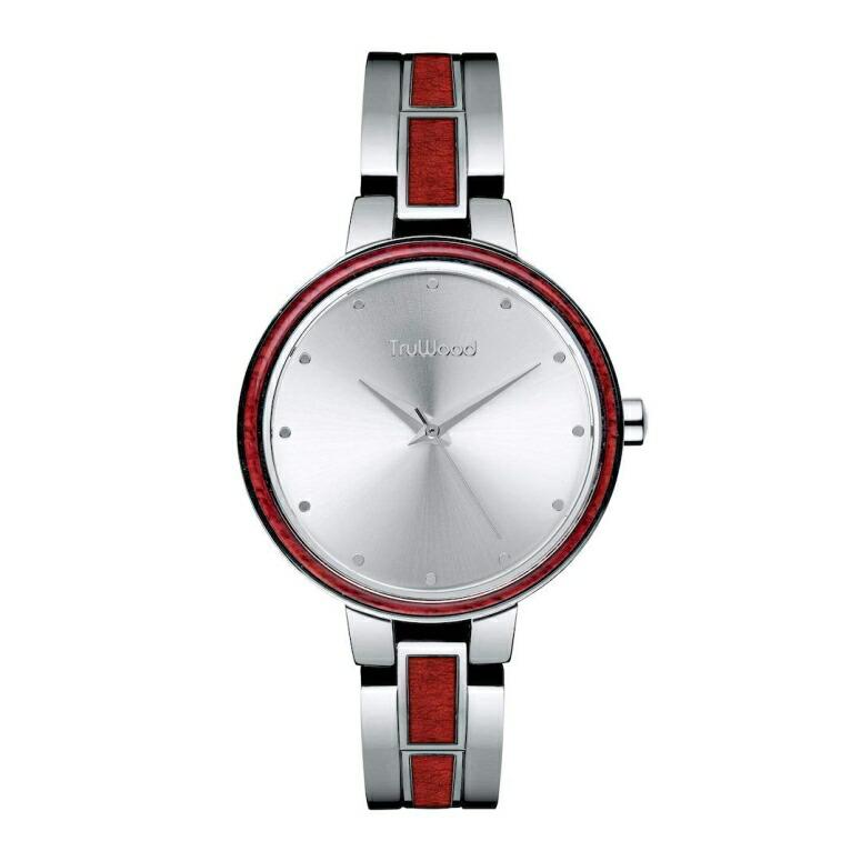 トゥルーウッド truwood ウッドウォッチ 木製腕時計 女性用 腕時計 レディース ウォッチ シルバー 3060412401069 送料無料 【並行輸入品】