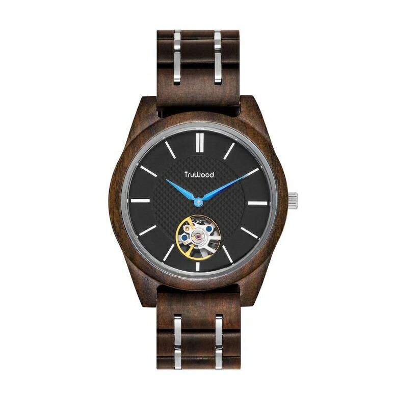 トゥルーウッド truwood ウッドウォッチ 木製腕時計 男性用 腕時計 メンズ ウォッチ ブラック 3060412401007 送料無料 【並行輸入品】