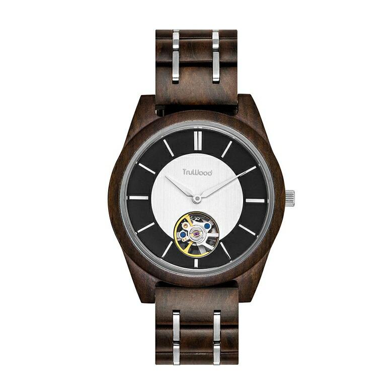 トゥルーウッド truwood ウッドウォッチ 木製腕時計 男性用 腕時計 メンズ ウォッチ ブラック シルバー 3060412401014 送料無料 【並行輸入品】