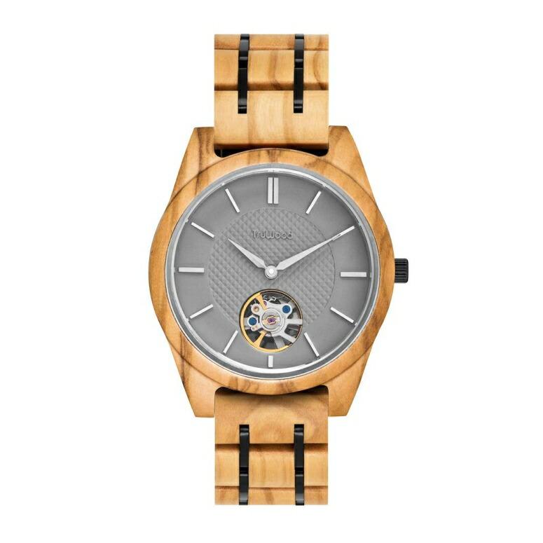 トゥルーウッド truwood ウッドウォッチ 木製腕時計 男性用 腕時計 メンズ ウォッチ シルバー 3060412401038 送料無料 【並行輸入品】