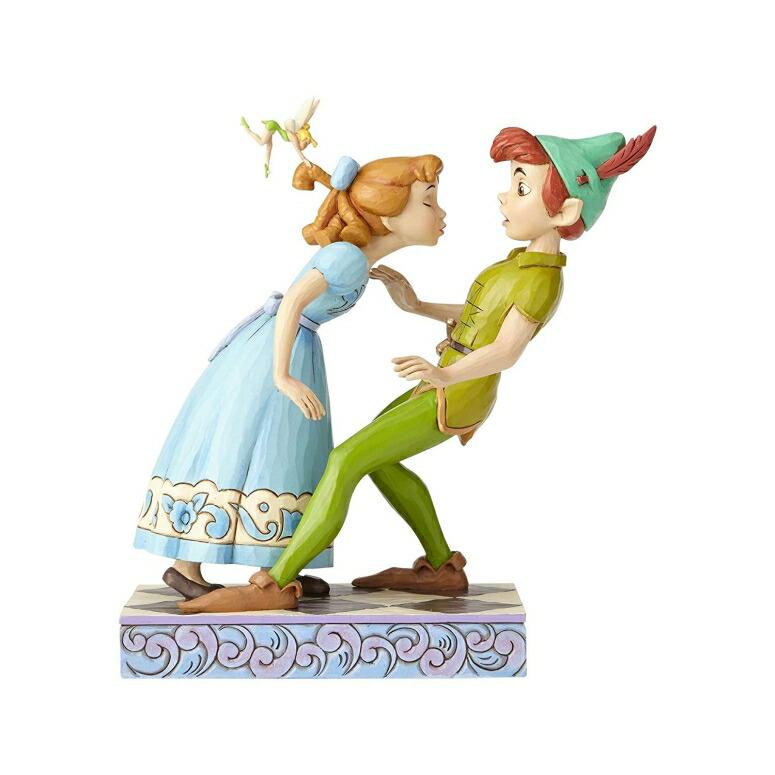 """エネスコ ジム ショア ハートウッド クリーク ピーターパンとウエンディ Enesco Disney Traditions by Jim Shore 65th Anniversary Peter Pan and Wendy Stone Resin, 7.6"""" Figurine, 7.6 Inches, Multicolor 送料無料 【並行輸入品】"""